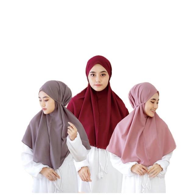 Jilbab Bergo Maryam Instan Diamond Shopee Indonesia
