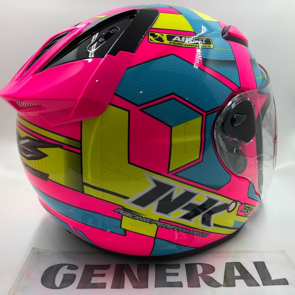 Goyang Harga Helm Nhk R6 Motif Cube Pink Fluorecent Light Blue Yellow Flo Stabilo 100 Original Shopee Indonesia
