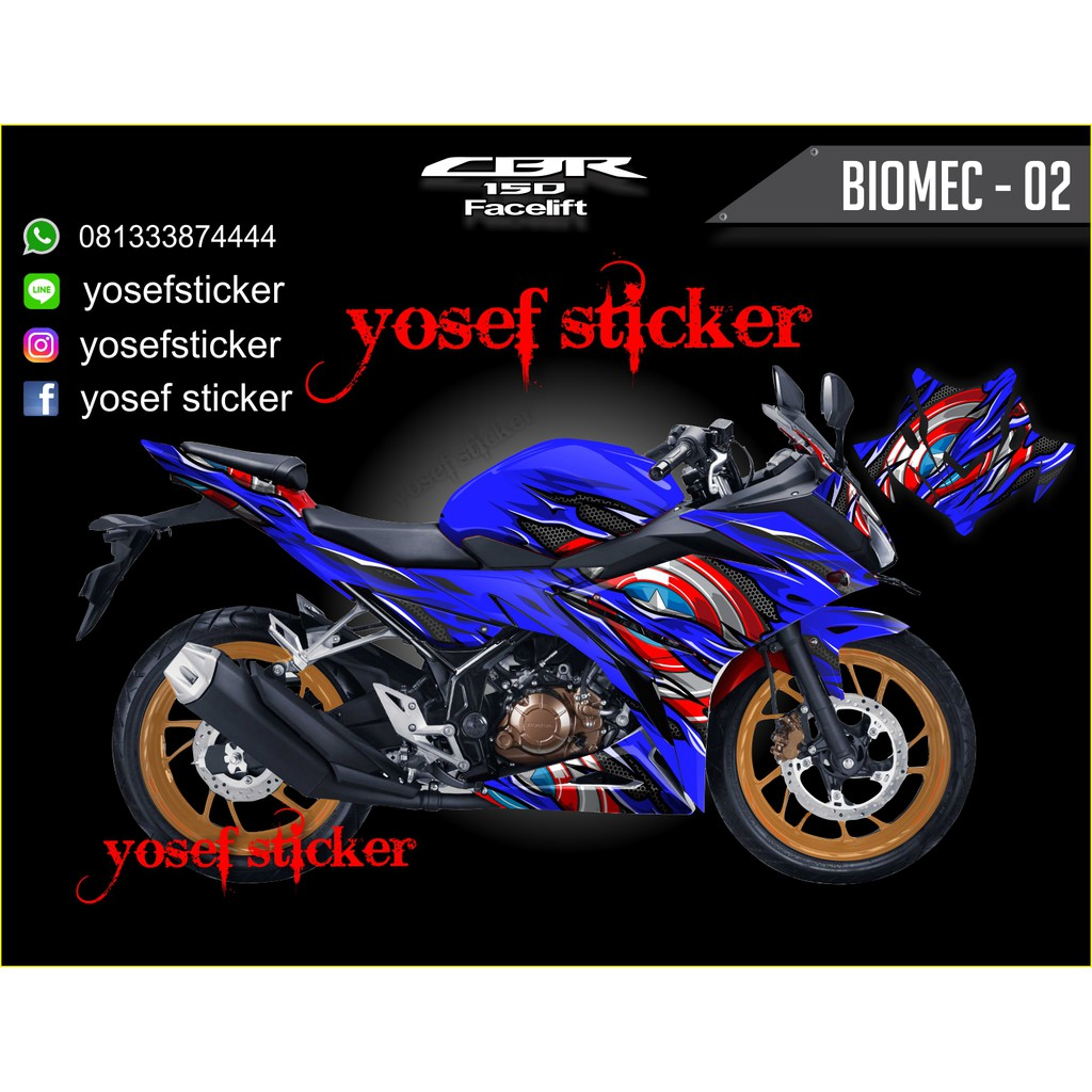Decal sticker cbr 150 facelift shopee indonesia