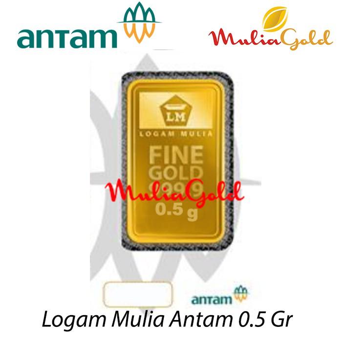 Logam Mulia Antam 05 Gram Lm Antam Emas Batangan Shopee Indonesia