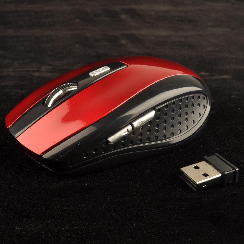 2.4 GHz nirkabel Mouse optik nirkabel tikus untuk komputer PC Laptop + USB Receiver | Shopee