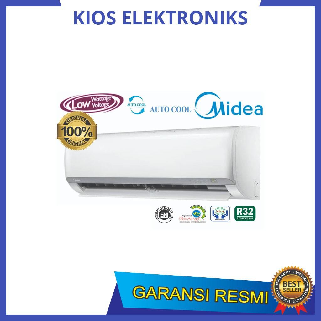 AC MIDEA MSFO 05 CRN 0.5 PK + PASANG R32 LOW WATT SUPER COOL - Putih