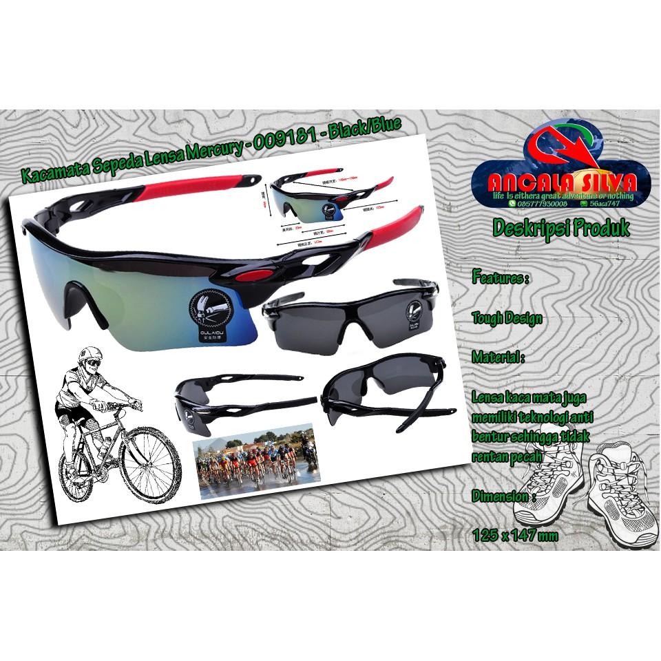 Kacamata Sepeda Lensa Mercury Blackblue - Beli Harga Murah 8f5d00a586