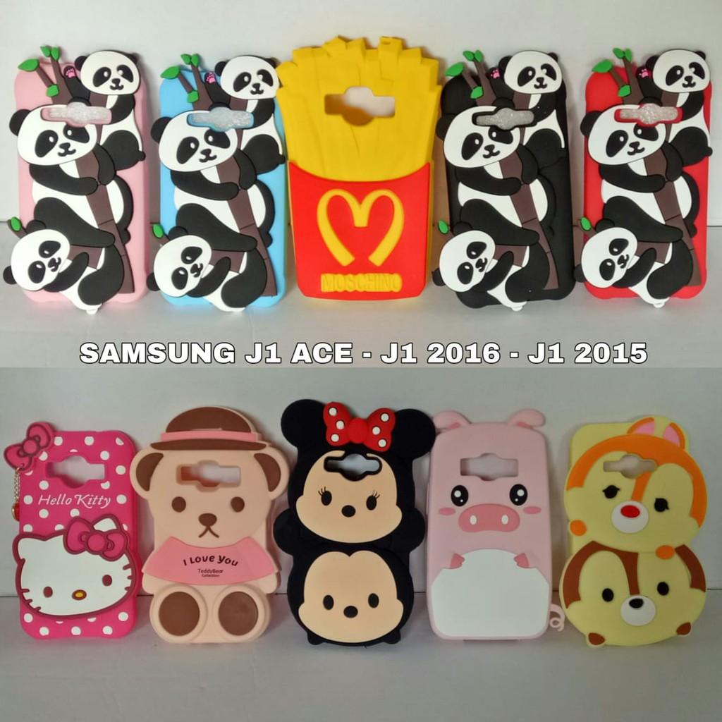 Samsung Galaxy J1 Ace J110 J111 Case Boneka Silicon 3D 4D Softcase Karakter  Animasi Cartoon Karakter  3d1194d822