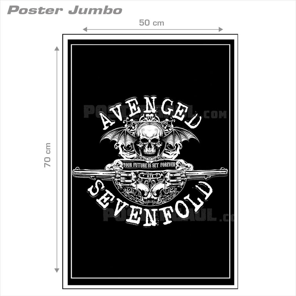 Poster Jumbo: LOGO AVENGED SEVENFOLD #A7X032 - 50 x 70 cm