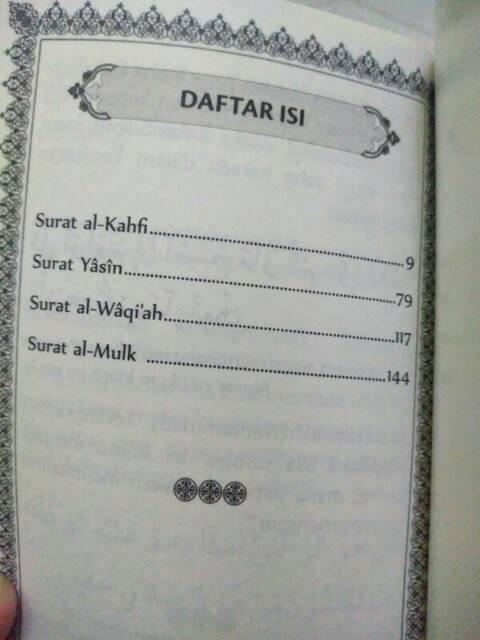 Al Quran Kumpulan Surat Yasin Al Kahfi Al Waqiah Al Mulk Saku