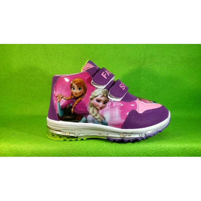 ⚡ sepatu anak frozen elsa perempuan cewek wanita cewe bayi lampu led nyala  sekolah tk sd import  0e9c35282e