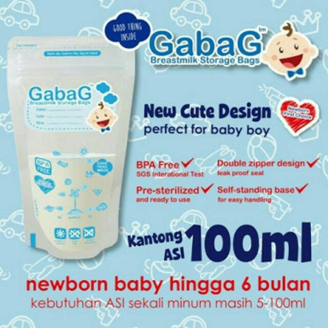 Gabag kantong asi 100ml/plastik asi gabag 100ml/Breastmilk Gabag Isi 30Pcs (Warna Random) | Shopee Indonesia