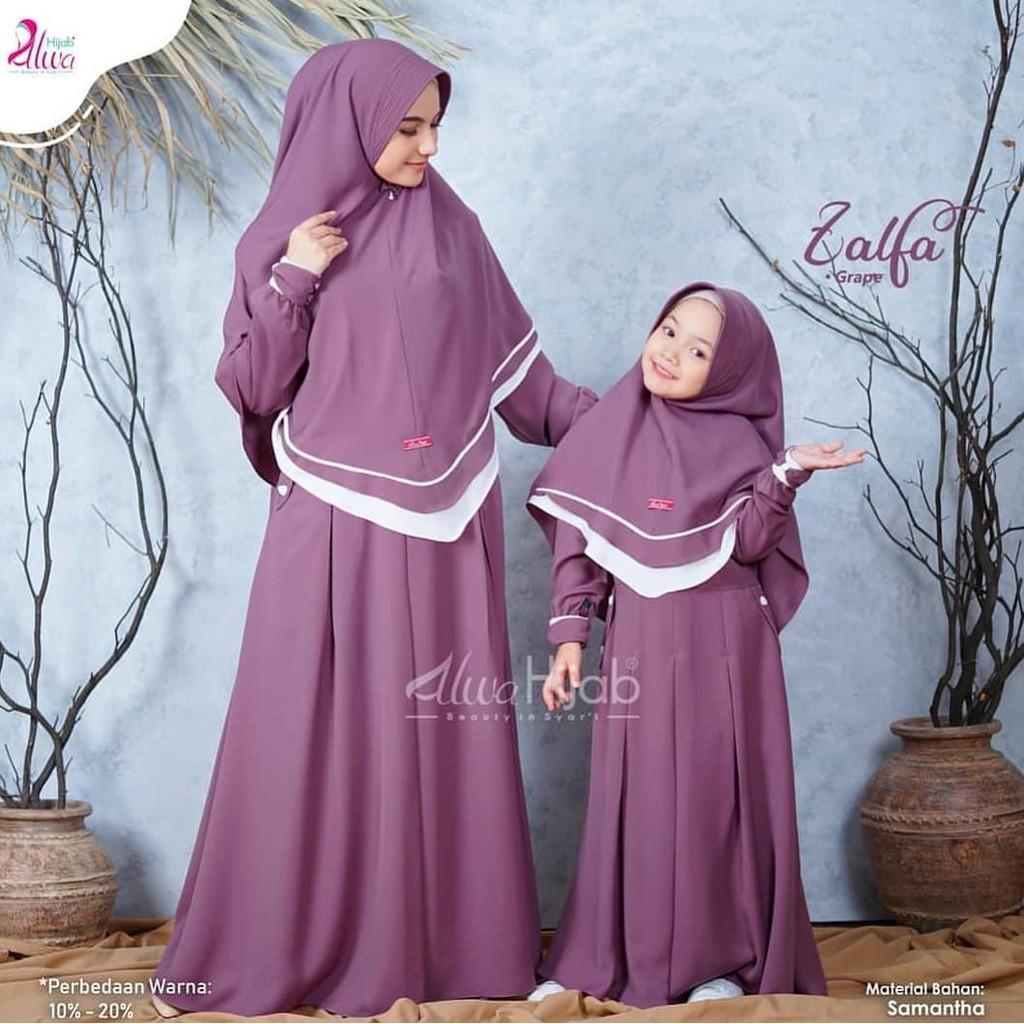Zalfa Baju Gamis Couple Ibu Dan Anak Baju Muslim Couple Baju Muslim Terbaru 2020 Shopee Indonesia