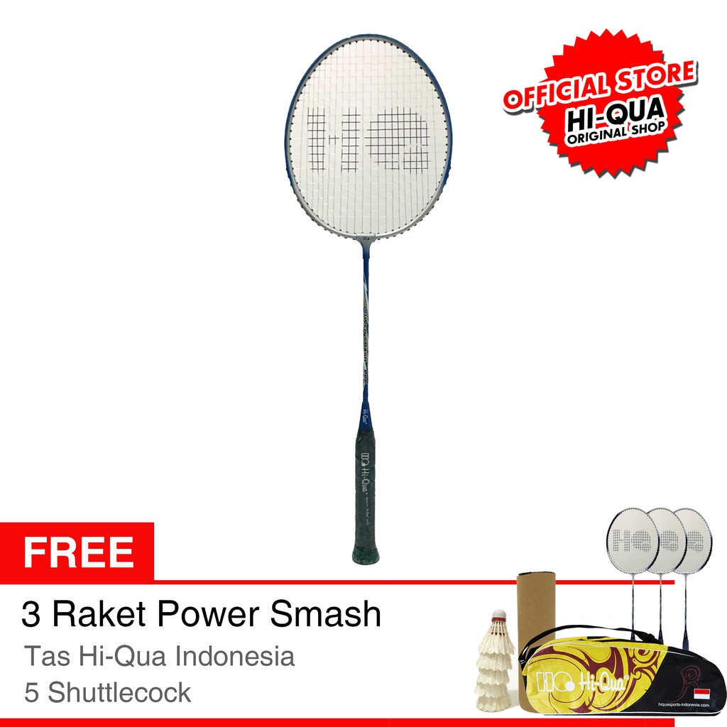 Hi-Qua Paket Bulutangkis Spinjitzu & Airjitzu ( Free Senar ISO66, Tas, Kaos)   Shopee Indonesia