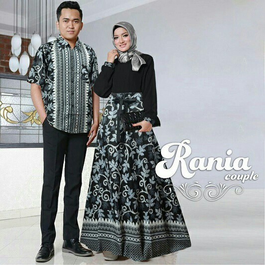 Model Baju Muslim Gamis Terbaru Dan Modern Couple Batik Rania