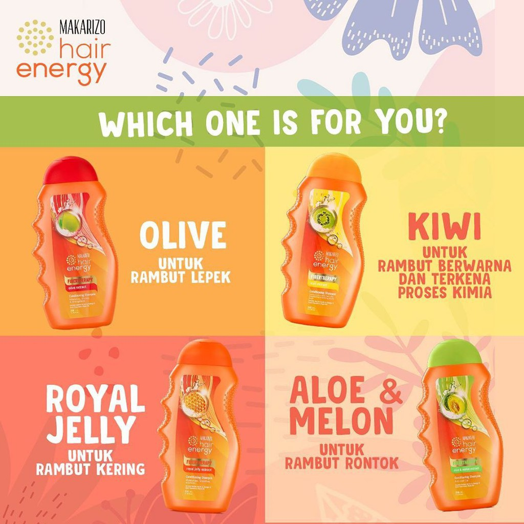 ❤ BELIA ❤ MAKARIZO Hair Energy Shampoo Botol (170ml & 330ml) Shampo Sampo Pembersih Rambut 2in1-1