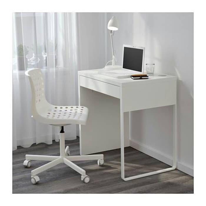 Ikea Micke Meja Kerja Komputer Belajar Putih 73x50 Cm Murah Shopee Indonesia