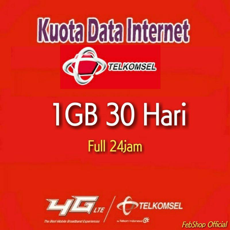 Termurah Kuota Paket Data Internet Telkomsel 1gb 2gb 30 Hari Full 24 Jam Baca Deskripsi Shopee Indonesia