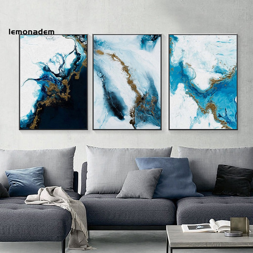Nordic Abstract Canvas Painting Background Wall Art Living Room Bedroom Decor Shopee Indonesia