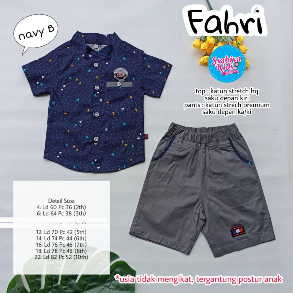 fahri set by sabby kids
