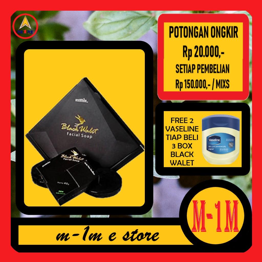 Sabun Black Walet Pt Rajawali 1 Paket Isi 3 Pcs Pembersih Wajah Dan Hitam Original Bpom Facial Shop Mencerahkan Shopee Indonesia