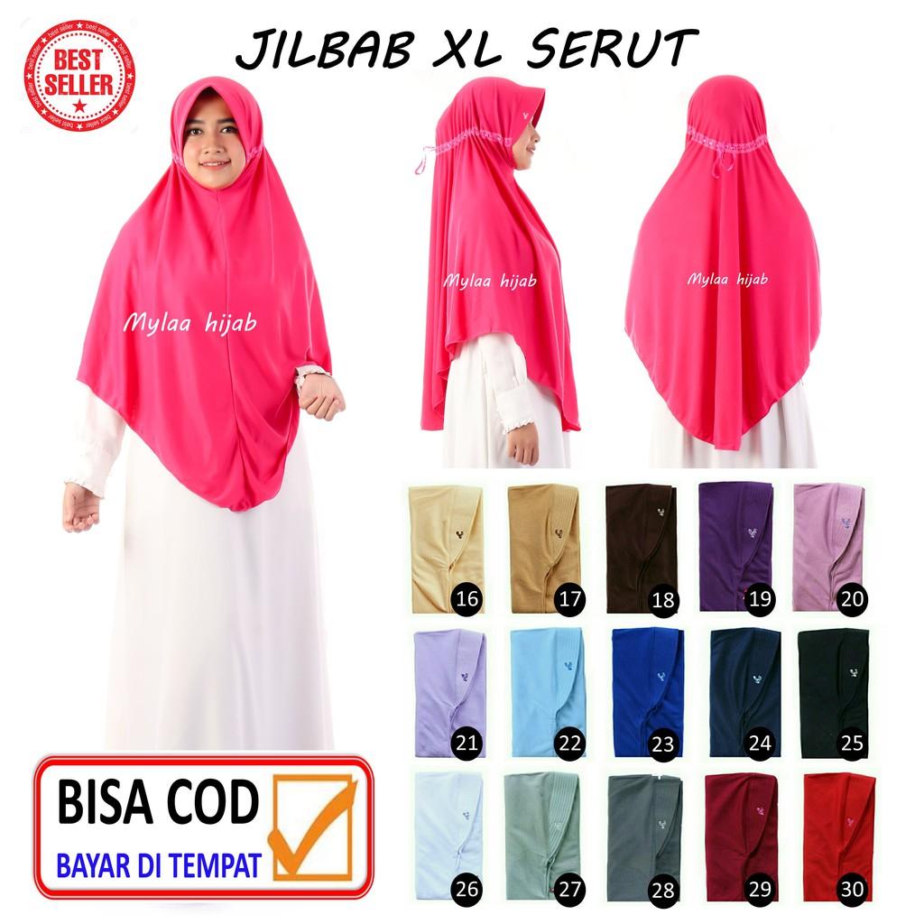 JILBAB INSTAN BERGO kerudung hijab DEWASA size XL bahan kaos anak sekolah  sprti rabani rabbani AFRA11