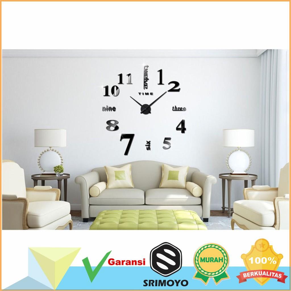 Unik Jam Dinding 3D Unik Dan Besar Cocok Untuk Ruang Tamu Murah ... e4de2b13e0