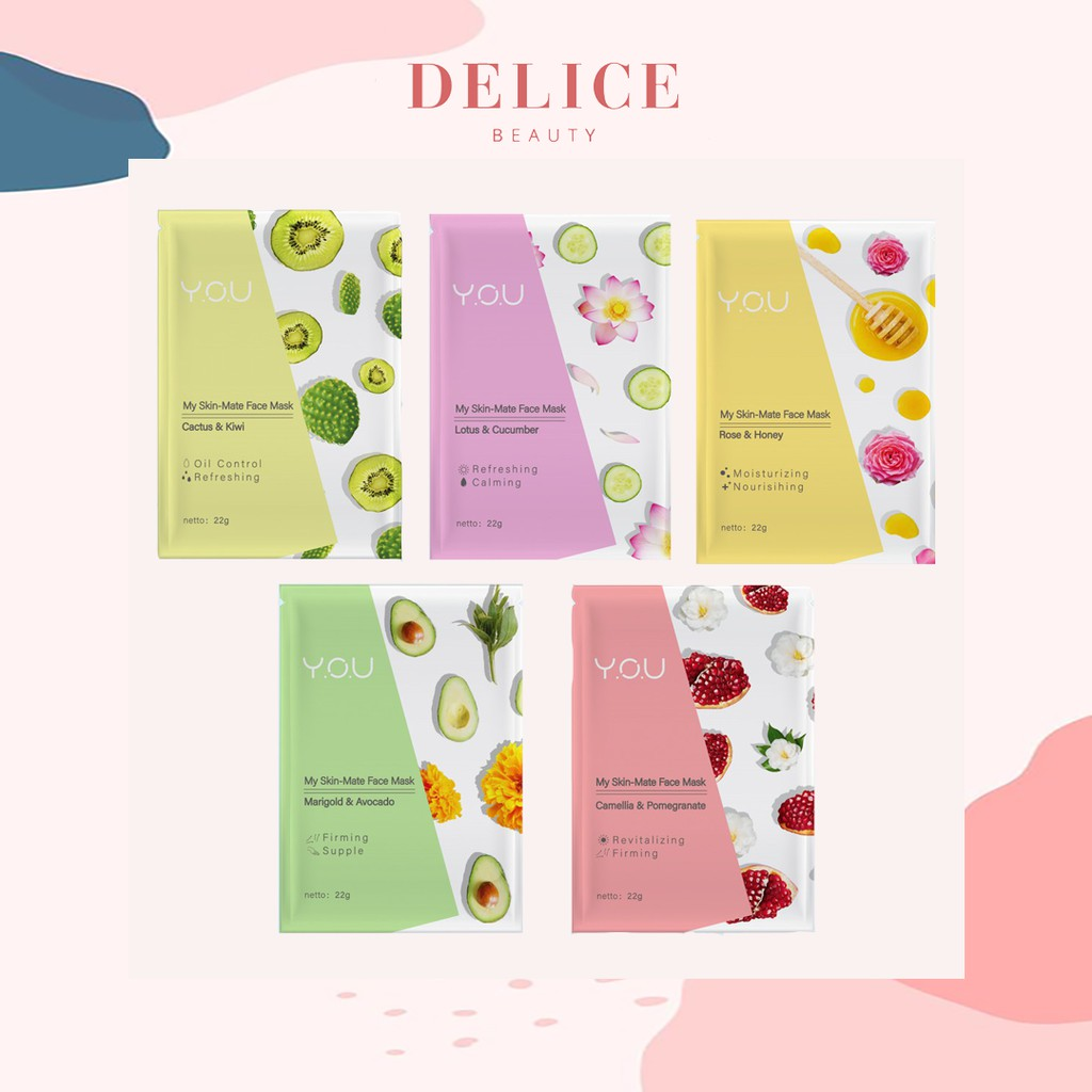 YOU My Skin-Mate Face Mask 3 in 1 / YOU Sheet Mask | Shopee Indonesia