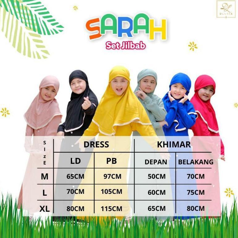 [ART. 745656] Dlusia Sarah Kids Set Hijab Anak Ori