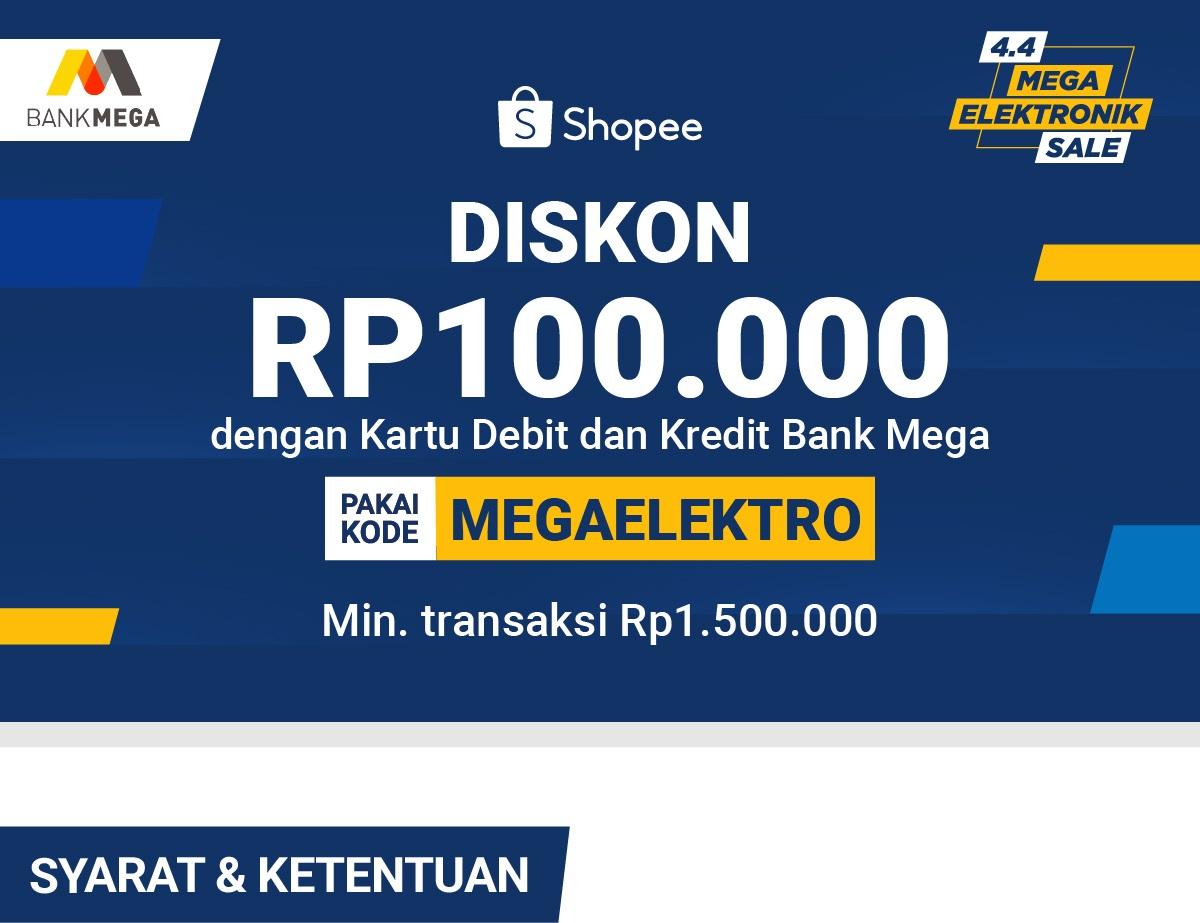 Diskon 100rb Pakai Kartu Debit Dan Kartu Kredit Bank Mega