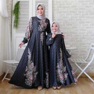 Baju Gamis Couple Ibu Anak Perempuan Muslim Syari Couple Keluarga Terbaru Milo Premium Sepasang Ibu Shopee Indonesia