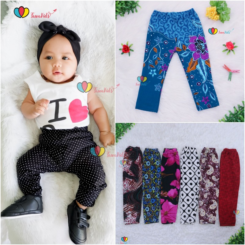 Legging Motif Uk 3 18 Bulan Leging Bayi Celana Panjang Baby Murah Anak Perempuan Baju Terbaru Batik Shopee Indonesia