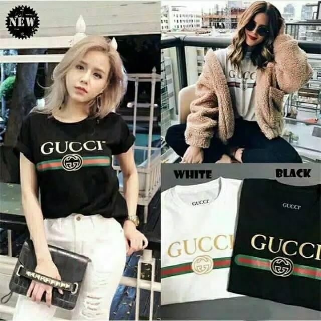0b0b9173a2f GUCCI TOP   T-shirt  Atasan Wanita   Kaos Cewek   Tumblr Tee ...