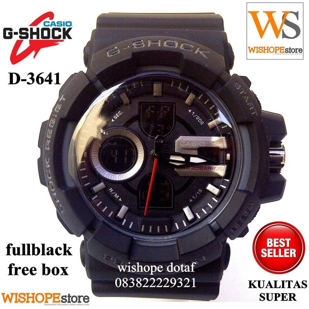 jam tangan pria casio g-shock d-3641 black  1932bc6877