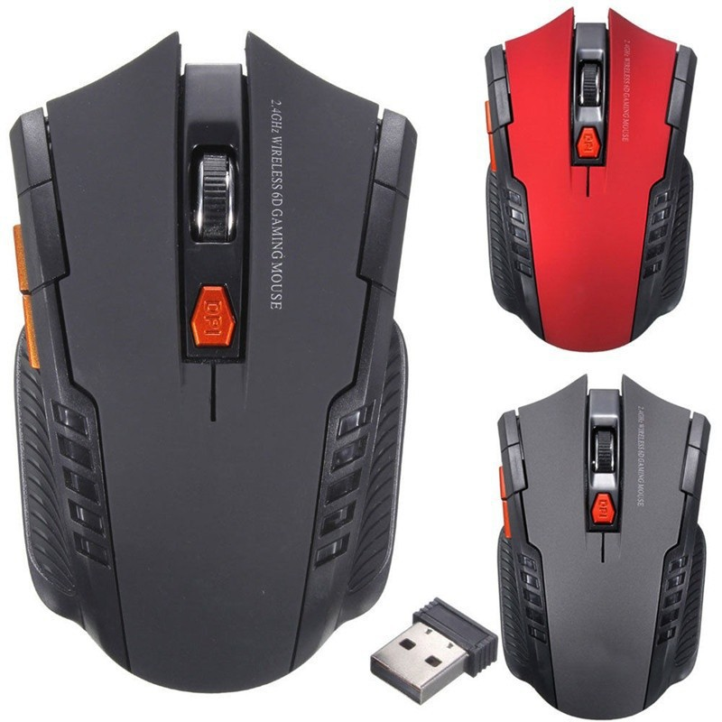 2.4 Ghz Wireless Optical Gaming Mouse & USB Receiver For PC Laptop   Shopee Indonesia