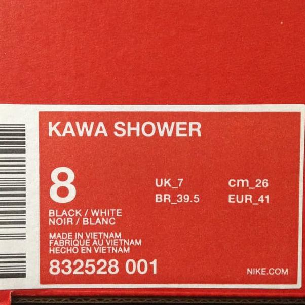 2cf404ad26d5 (Tren terbaru) Sandal Nike Kawa Shower Black 832528-001 Original BNIB . ...