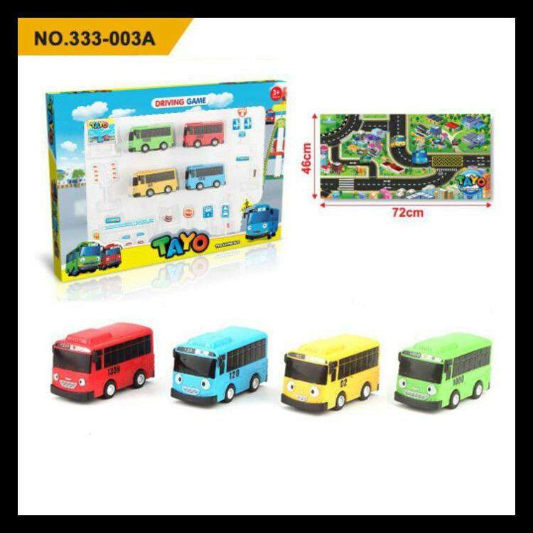 100 Asli Mainan Anak Bus Tayo Map Kado Mainan Anak Laki Laki Bis Tayo Kode 48 Shopee Indonesia