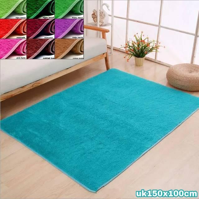 Karpet bulu lembut uk 150x100cm trikot Shopee Indonesia