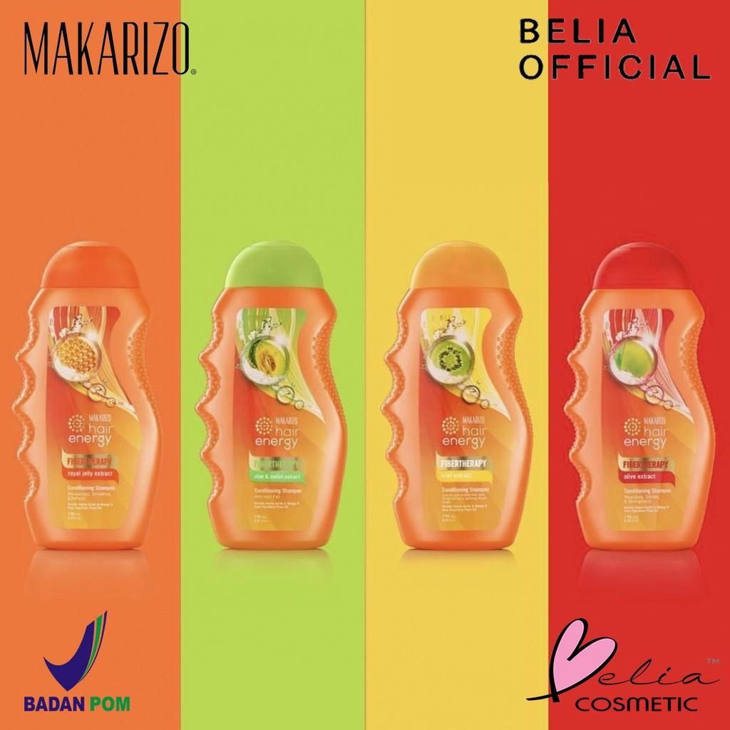 ❤ BELIA ❤ MAKARIZO Hair Energy Shampoo Botol (170ml & 330ml) Shampo Sampo Pembersih Rambut 2in1