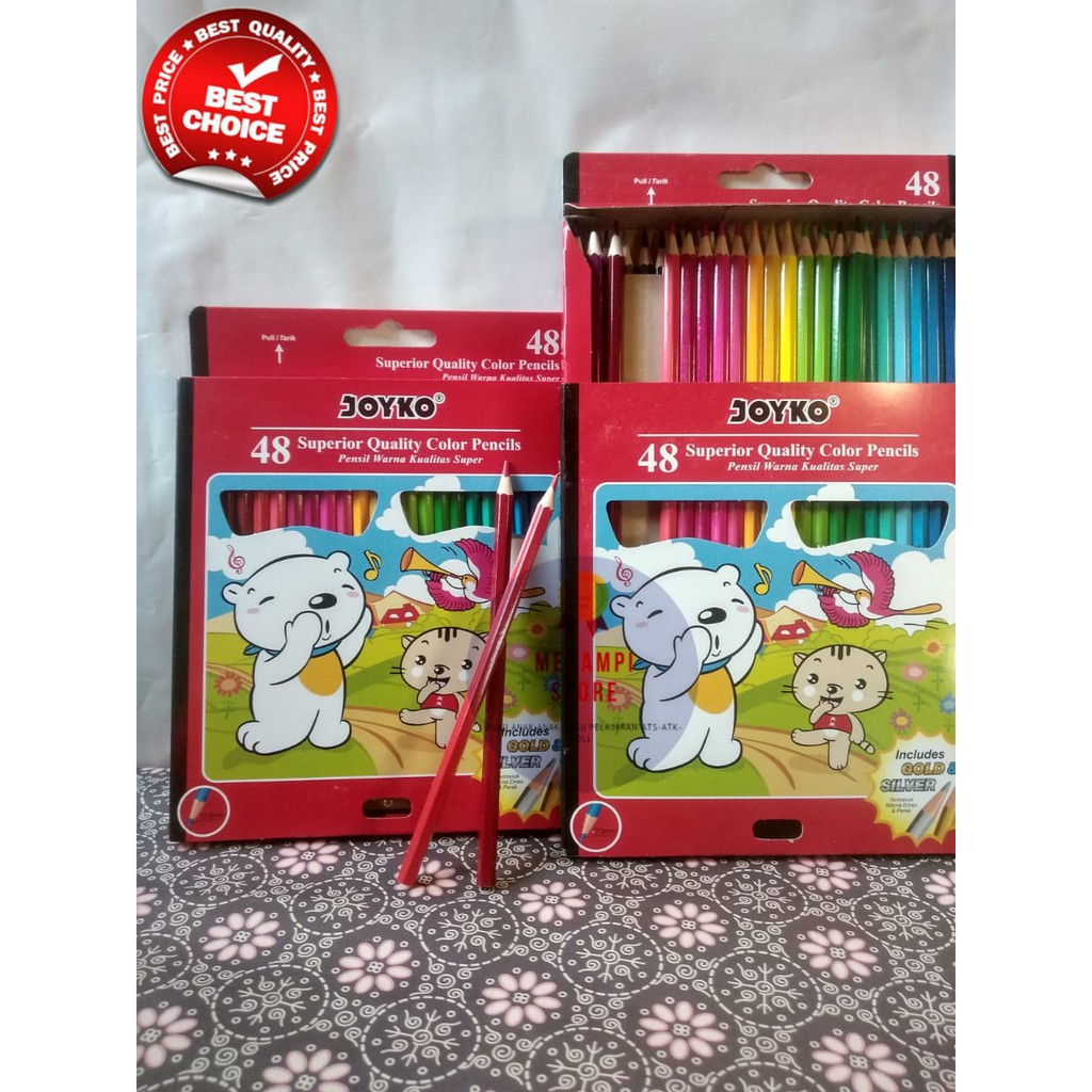Pensil Warna Color Pencil Isi 48 Panjang Joyko Cp S48pb Shopee Indonesia
