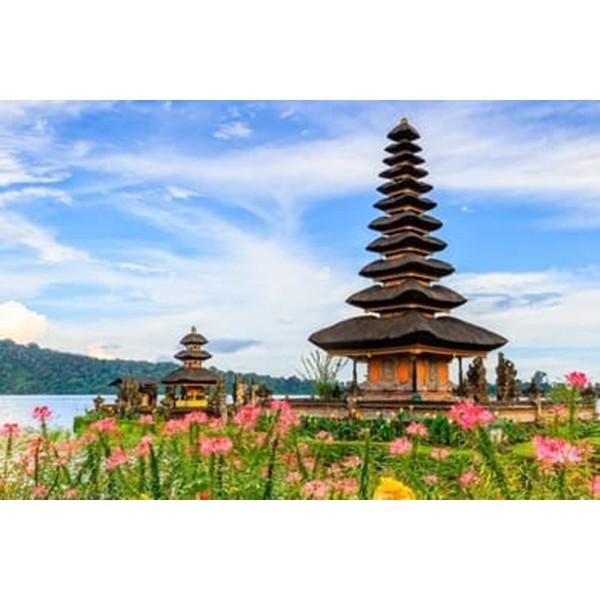 Wallpaper Dinding 3D Custom Murah Berkualitas Gambar Pemandangan Pura Bali