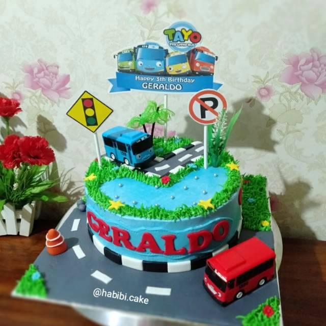 Kue Ultah Tayo Birthday Cake Tayo Kue Tayo Shopee Indonesia
