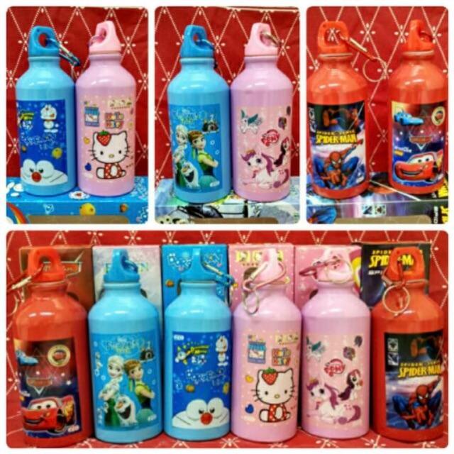 B3C215 Botol Minum Anak Karakter Beruang Tutup Clip B20-1 | Shopee Indonesia