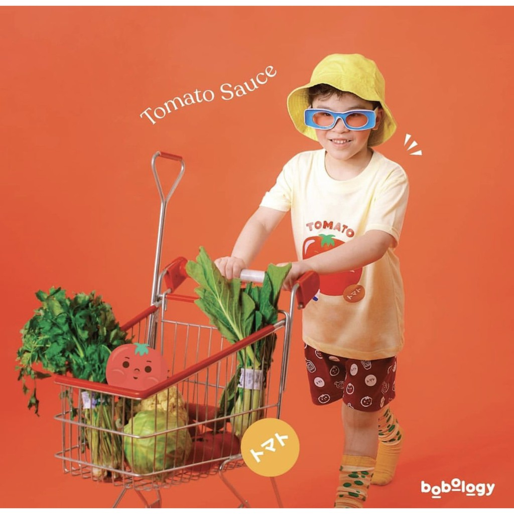 Tomato Pyjamas (Short Pants) -BOBOLOGY (Pyjamas Piyama PJ Baju Tidur Baju Rumah Kaos Anak)