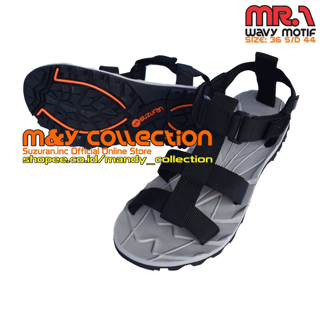 Suzuran Sandal Gunung Crosser Mr2 Grey W Maroon Shopee Indonesia Cross Thumb Brown
