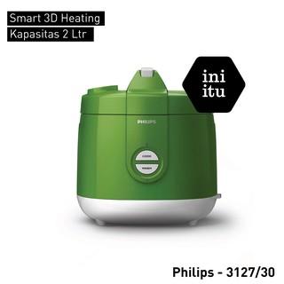 Magic Com / Rice Cooker Philips Kapasitas 2 Liter HD3127 - Biru -