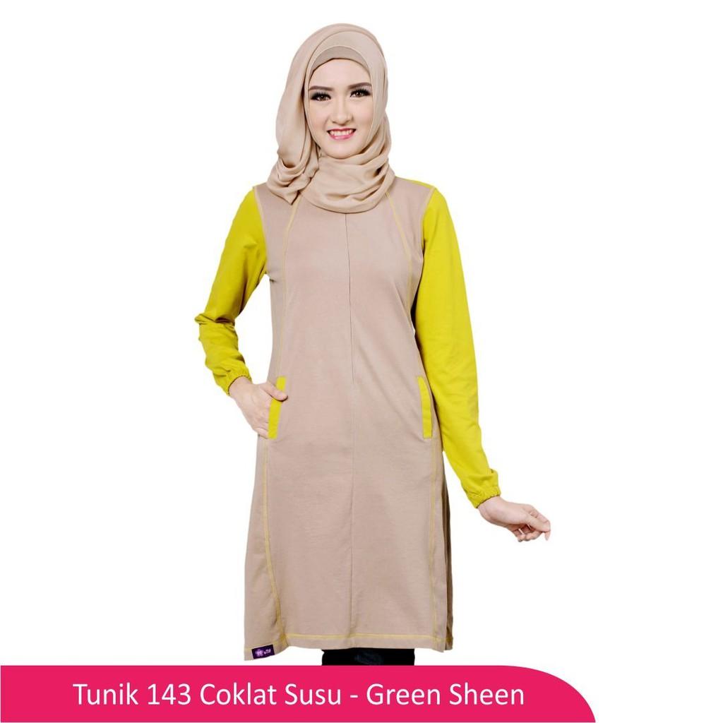 Baju Wanita Atasan Muslimah Wanita Baju Ibu Menyusui 175 Coklat ... b4cc19a54d