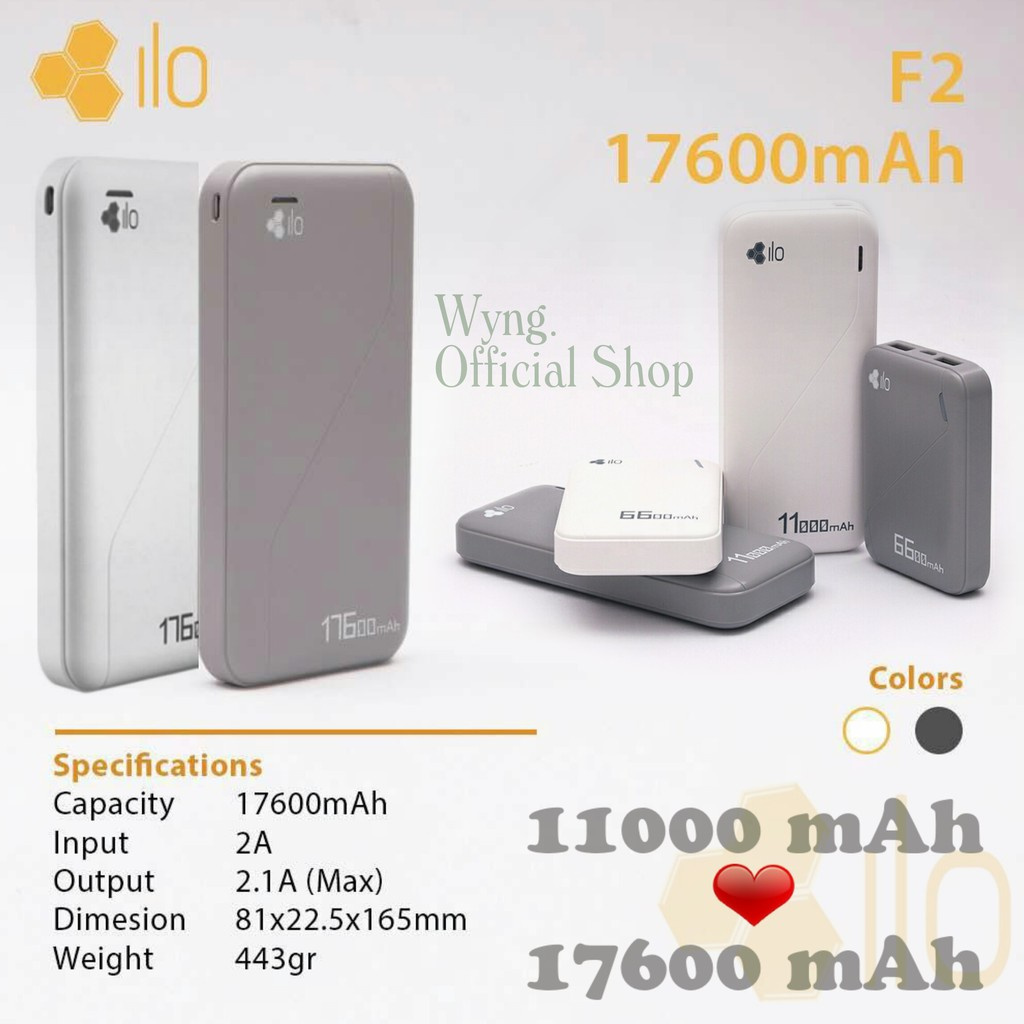 Jual Murah Hippo Power Bank Titan1 6000 Mah Simple Pack Silver Powerbank Atlas 12000mah Polymer Cell Ilo F2 11000mah Garansi Resmi Shopee Indonesia