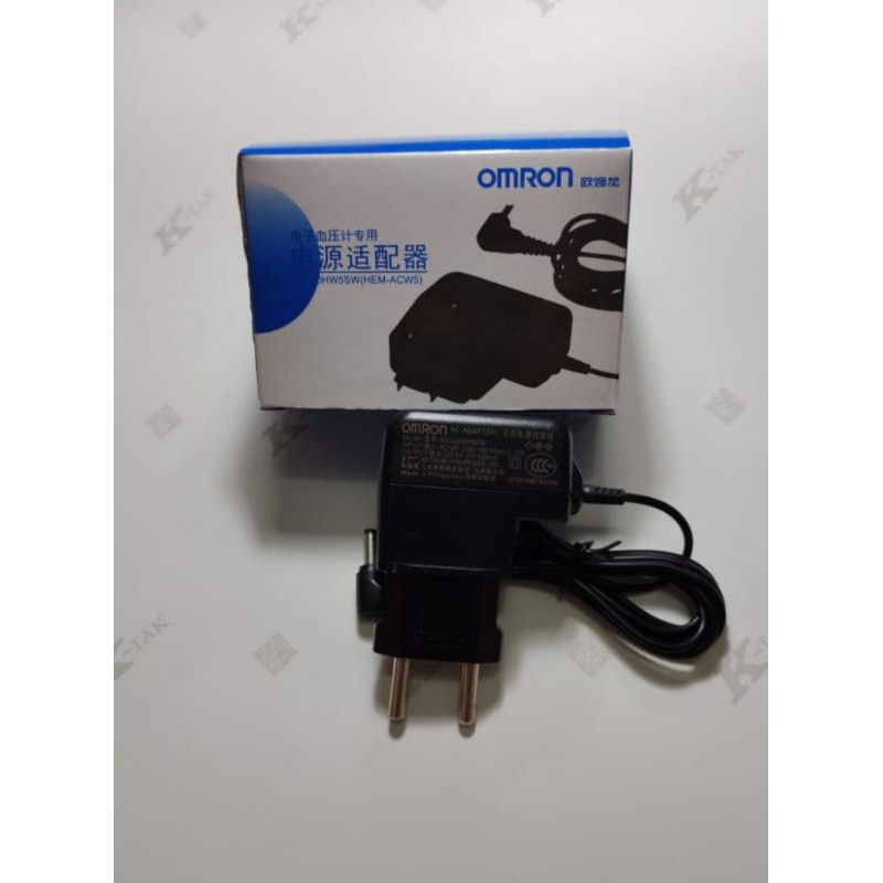 NEW Adaptor Omron Original untuk alat Tensi Darah Digital 6V Semua Tipe S