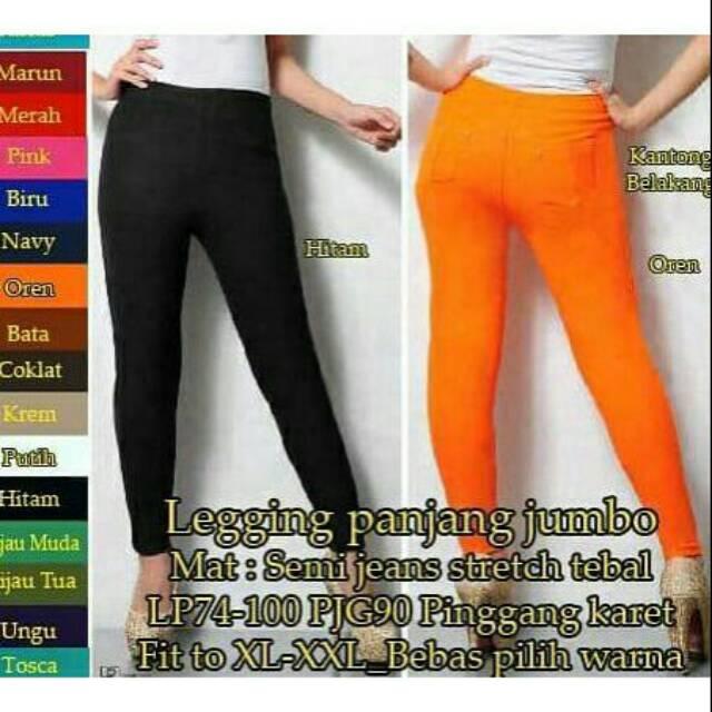 Celana Legging Semi Jeans Shopee Indonesia