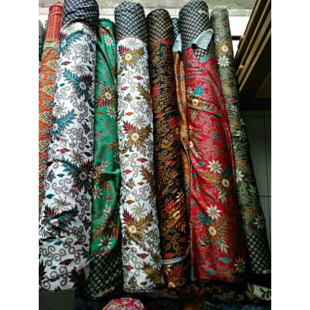 Bahan batik meteran sutra silky  99eafb7208