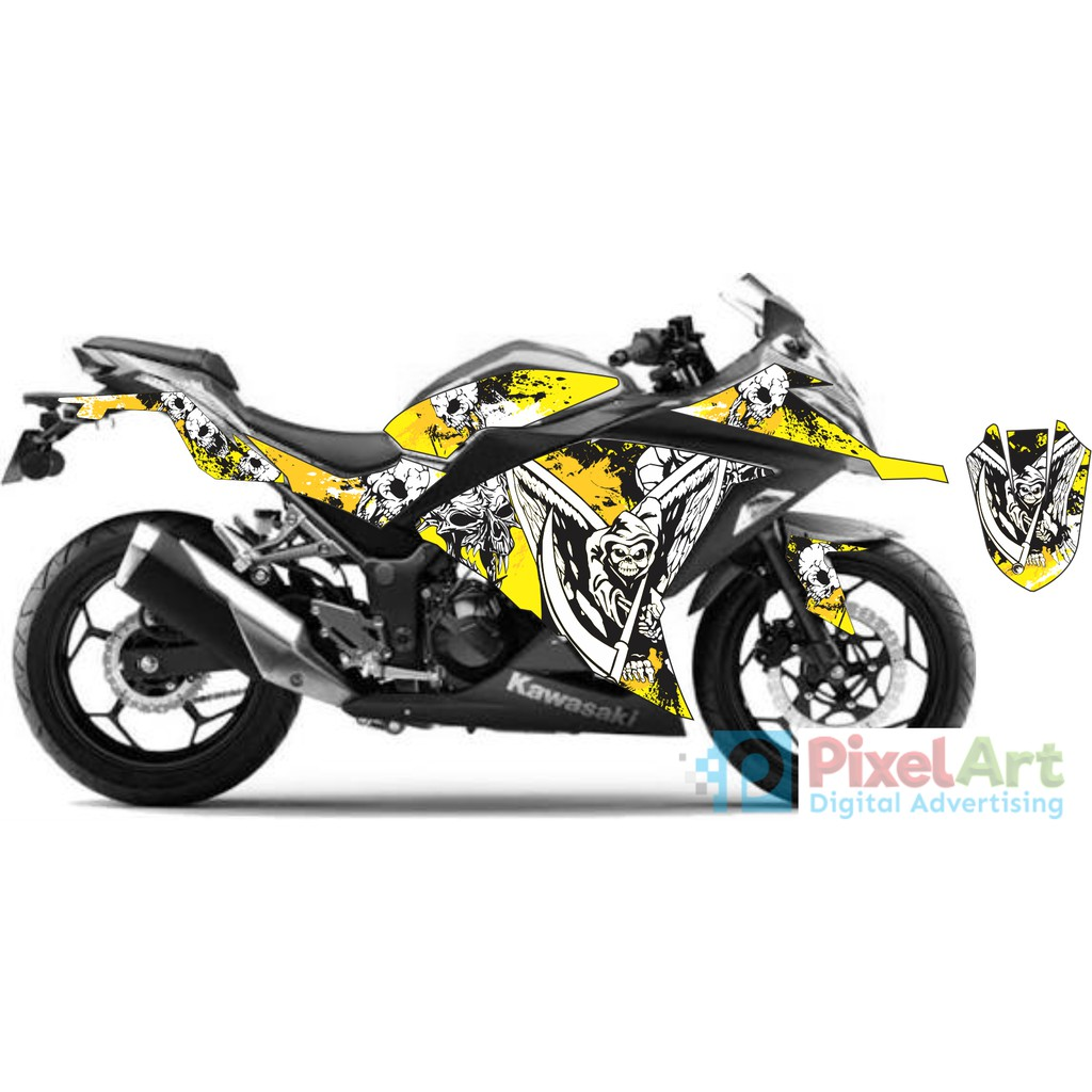 Sticker Decal Motor Ninja Kece