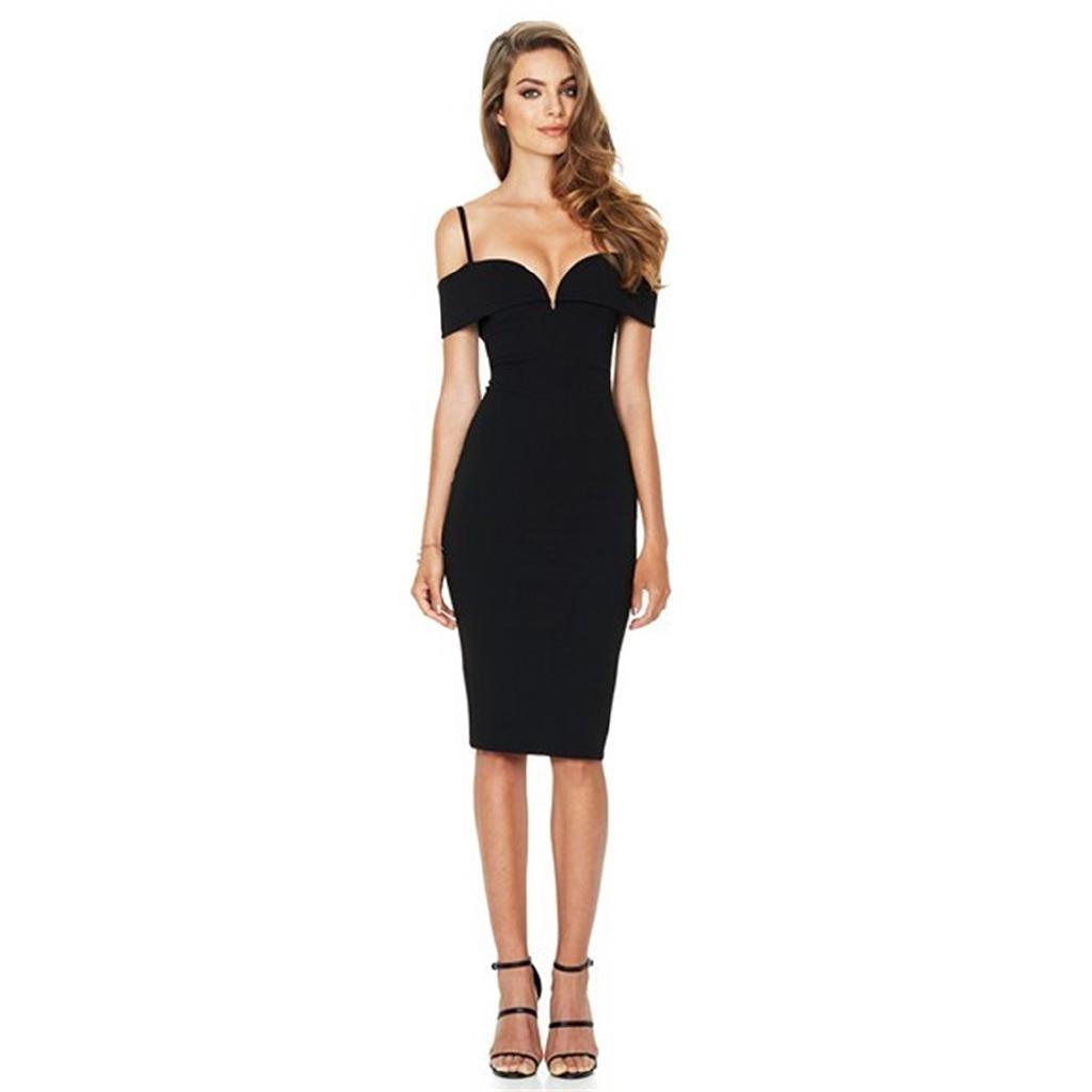 UK Womens Bodycon High Neck Collar Shift Dress Ladies Party Midi Size 6-14