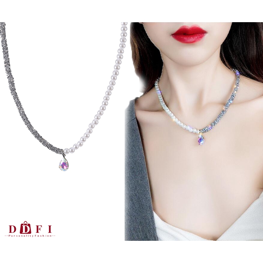Kalung Silver 925 Simple Round CZ Necklace Pendant Women Fashion Dress WHN5R | Shopee Indonesia